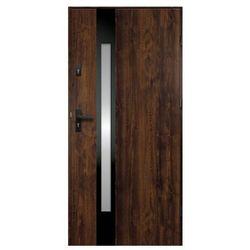 Drzwi zewnętrzne O.K. Doors Temida Black P55 90 prawe ciemny orzech