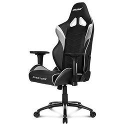 AKracing Overture White Krzesło gamingowe - Czarno-biały - Skóra PU - 150 kg