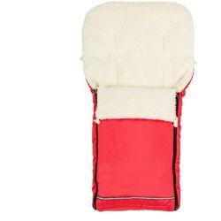 Śpiworek śpiwór do wózka czerwony owcza wełna