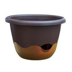 Donica z systemem nawadniania Mareta 30 czekoladowy + złoto-brązowy
