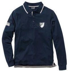 Shirt polo z długim rękawem Regular Fit bonprix ciemnoniebieski
