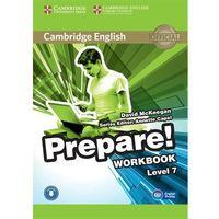 Książki do nauki języka, CAMBRIDGE ENGLISH PREPARE! 7 WORKBOOK WITH AUDIO*natychmiastowawysyłkaod3,99 (opr. miękka)