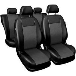 Skórzane pokrowce samochodowe Comfort szare