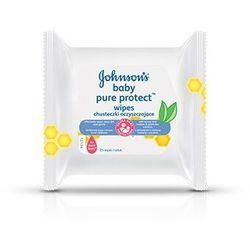 J&J Baby Pure Protect chusteczki oczyszczające x 25 sztuk