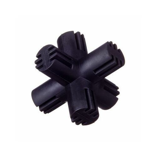 Grzechotki i gryzaki, Gryzak kauczukowy krzyż - black