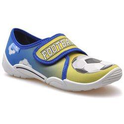 Kapcie dziecięce RenBut 33-373 Niebieskie/Żółte piłka