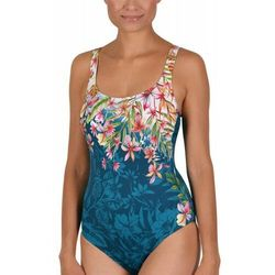 kostium kąpielowy damski jednoczęściowy Naturana 73233 zielony