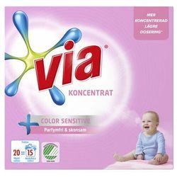 Via - Koncentrat Color Sensitive - proszek do prania - 20 prań - 750g - ze Szwecji