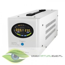 Inwerter / przetwornica / prostownik | Pure Sine Wave | 700W | 1000VA | LCD | Biały