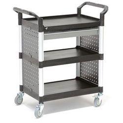 Wózek narzędziowy MOVE z 3 plastikowymi półkami i szufladą, 850x480x1000 mm