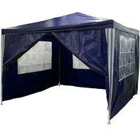 Namioty ogrodowe, NIEBIESKI PAWILON OGRODOWY 3x3 4 ŚCIANY NAMIOT HANDLOWY - Niebieski