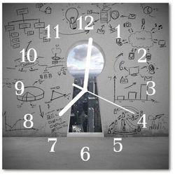 Zegar szklany kwadratowy Dziurka od klucza