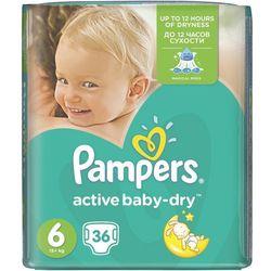 PAMPERS Active Baby pieluchy 6 Extra Large 36szt pieluszki