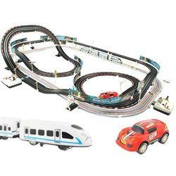 Tor wyścigowy wyścigowy kolejowy kolejka 115 elementów