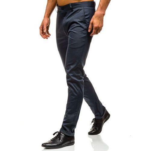 Spodnie męskie, Spodnie chinosy męskie grafitowe Denley 0204