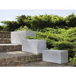 Doniczka biała prostokątna 80 x 37 x 38 cm MYRA