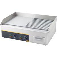 Grille gastronomiczne, Płyta grillowa elektryczna 2/3 gładka + 1/3 ryflowana, 3,6 kW | GREDIL, 745120