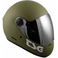 Ochraniacze na ciało, kask TSG - pass solid color (+ bonus visor) matt olive (132) rozmiar: L