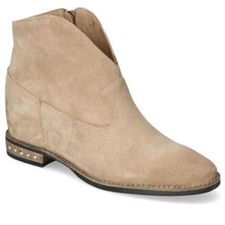 Botki Carinii B5302-O17 Beż cappucino zamsz