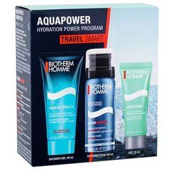 Biotherm Homme Aquafitness zestaw 40 ml Żel pod prysznic 40 ml + Pianka do golenia Foam Shaver 50 ml + Krem nawilżający 20 ml dla mężczyzn