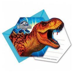 Zaproszenie urodzinowe Jurassic World - Park Jurajski - 6 szt.