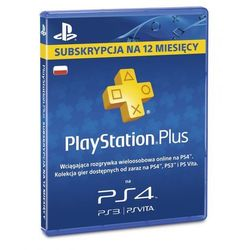 Karta SONY PlayStation Plus 365 dni