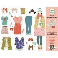Kreatywne dla dzieci, Zestaw do projektowania ubrań - Djeco DARMOWA DOSTAWA KIOSK RUCHU - BEZPŁATNY ODBIÓR: WROCŁAW!