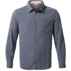 CRAGHOPPERS Koszula męska NOSILIFE NUORO LS - rozmiar L - kolor niebieski