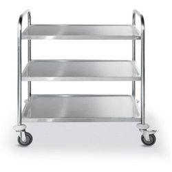 Wózek kelnerski 3-półkowy ze stali nierdzewnej | 590x900x(H)930mm