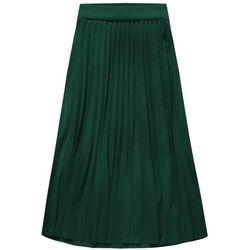 PLISOWANA SPÓDNICA MIDI ZIELONA (140ART) - zielony