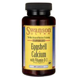 Swanson Eggshell Calcium + witamina D3 (wapń + D3) 60 kaps.