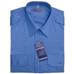 Koszula niebieska Służby Więziennej - długi rękaw