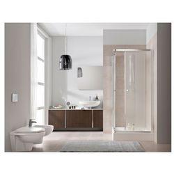 KOŁO FIRST Drzwi prysznicowe 80cm, profile srebrny połysk, szkło transparentne ZDRP80222003