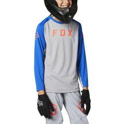 Fox Defend LS Jersey Youth, szary S   117-125 2021 Koszulki dziecięce trykotowe Przy złożeniu zamówienia do godziny 16 ( od Pon. do Pt., wszystkie metody płatności z wyjątkiem przelewu bankowego), wysyłka odbędzie się tego samego dnia.