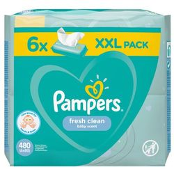Chusteczki Pampers FreshClean 6x80- natychmiastowa wysyłka, ponad 4000 punktów odbioru!