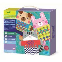 Kreatywne dla dzieci, Moja pierwsza wyszywanka Sweterki dla zwierząt