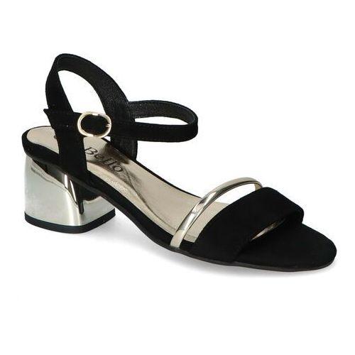 Sandały damskie, Sandały CheBello 2472-037 Czarne zamsz