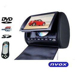 "NVOX JHT9008D BL Zagłówek multimedialny z maskownicą 9"" cali HD DVD USB SD AV IR FM GRY"