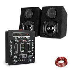 Resident DJ DJ-25 zestaw mikser DJ + głośniki auna ST-2000 czarny/biały