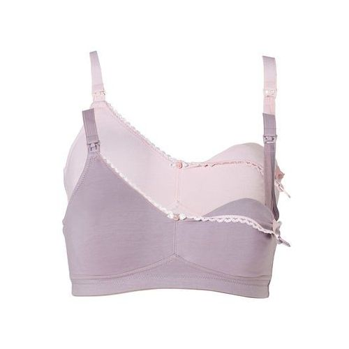 Biustonosze ciążowe, Biustonosz do karmienia piersią (2 szt.) bonprix jasnoróżowy + w kolorze bzu
