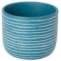 Doniczki i podstawki, Doniczka ceramiczna GoodHome ozdobna 17 cm niebieska