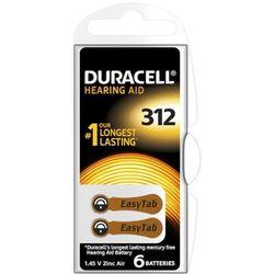 Bateria typ 312 do aparatów słuchowych - Duracell - 6szt.