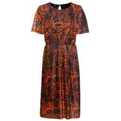 Sukienka koszulowa bonprix szary z nadrukiem