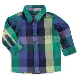 Esprit Boy Koszulka w kartke green - niebieski - Gr.74
