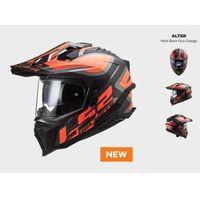 Kaski motocyklowe, KASK MOTOCYKLOWY ENDURO OFF ROAD KASK MX701 ALTER MATT BLACK ORANGE nowość 2021 roku (1)