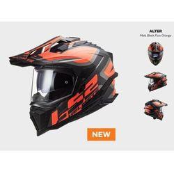 KASK MOTOCYKLOWY ENDURO OFF ROAD KASK MX701 ALTER MATT BLACK ORANGE nowość 2021 roku (1)