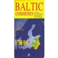 Mapy i atlasy turystyczne, Kraje Bałtyckie mapa 1:700 000 Jana Seta (opr. twarda)