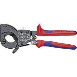 Obcinarki zapadkowe do kabli Knipex 95 31 250, 32 mm, 240 mm², Odpowiedni do Kabli aluminiowych i miedzianych jedno i wielożyłowych
