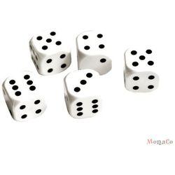 Kości do gry białe zaokrąglone - 5 szt. Kości do gry białe zaokrąglone - 5 szt.