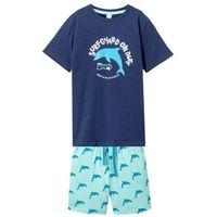 Krótkie spodenki dziecięce, Shirt + krótkie spodenki (2 części) bonprix kobaltowo-pastelowy miętowy